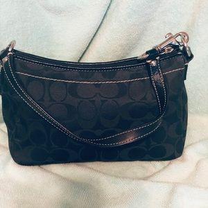 Coach Bags - Coach black signature print mini bag